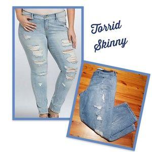 Torrid Skinny Distressed Jeans